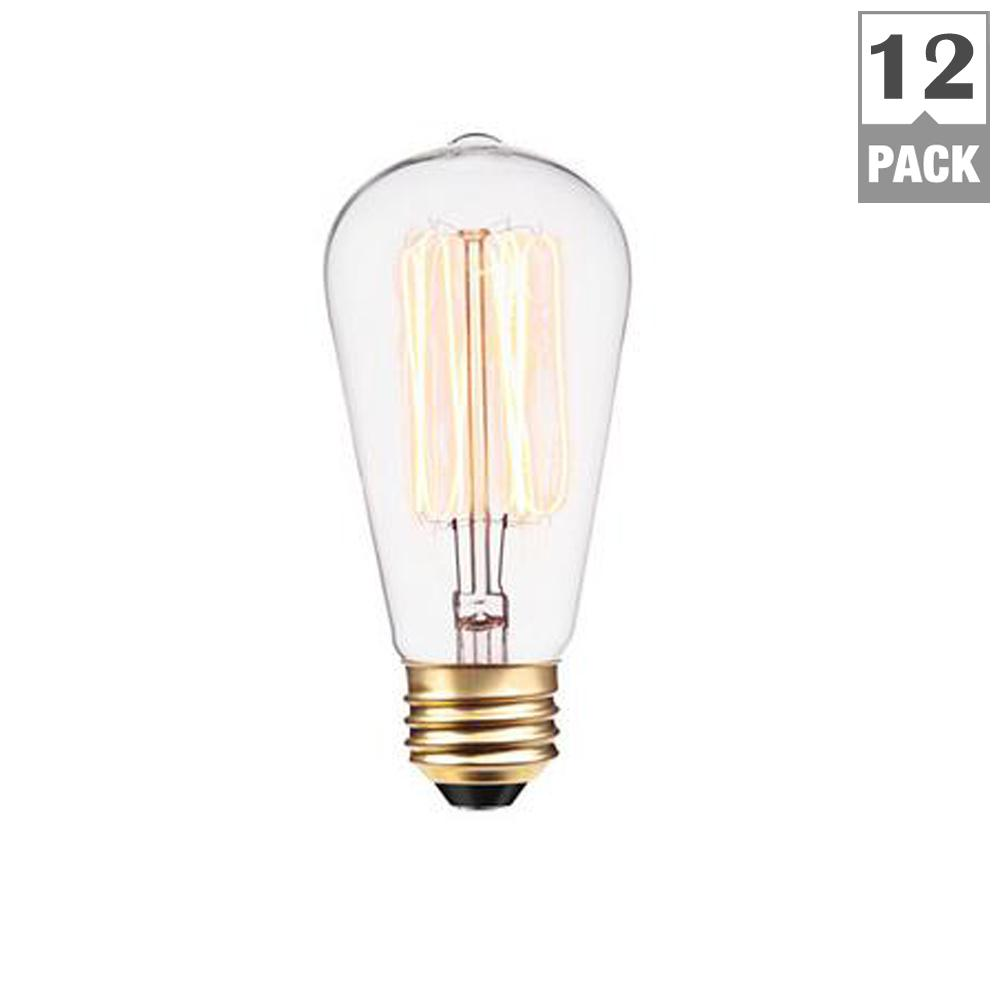Vintage 60-Watt Incandescent S60 Antique Style Light Bulb - Vintage Style