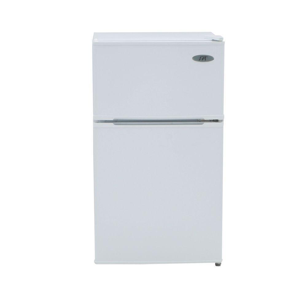 Double Door Mini Refrigerator In White, ENERGY STAR