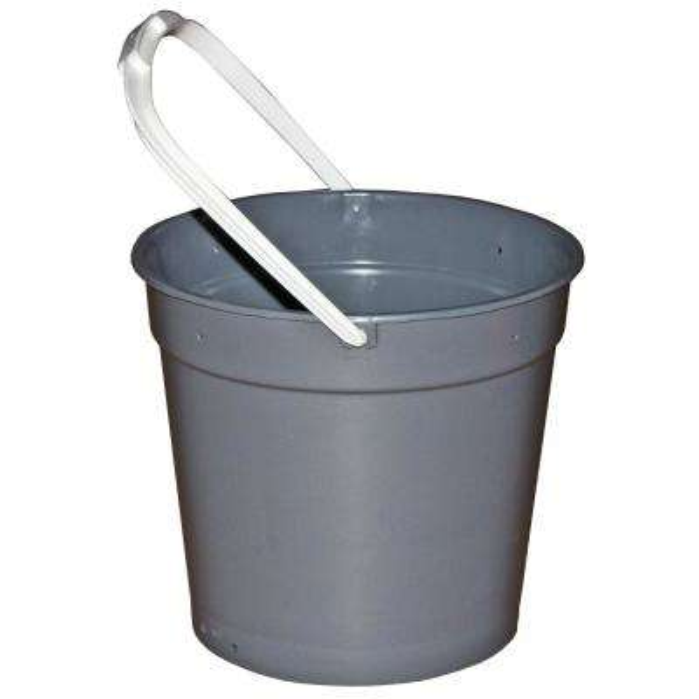 12 Qt. Gray Heavy Duty Round Utility Mop Bucket