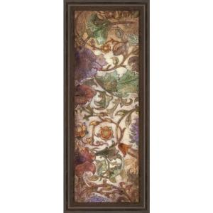 """18 in. x 42 in. """"Floral Sonata II"""" by O'Flannery Framed Printed Wall Art"""