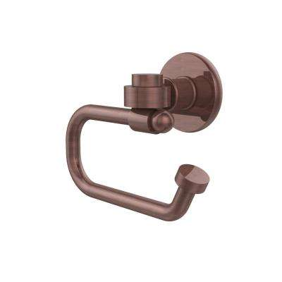 Continental Collection Europen Style Single Post Toilet Paper Holder in Antique Copper