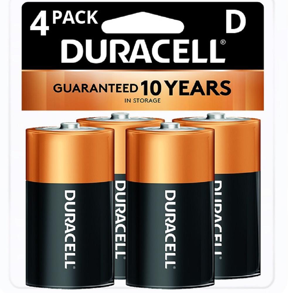 Duracell Coppertop Alkaline Size D Battery (4-Pack)