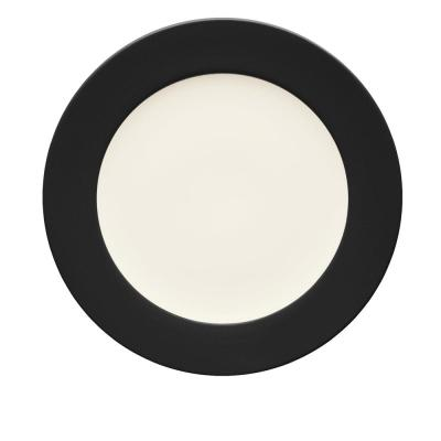 Colorwave 11 in. Graphite Rim Dinner Plate