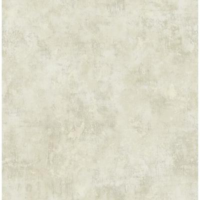 Wright Metallic Silver and Off-White Stucco Wallpaper