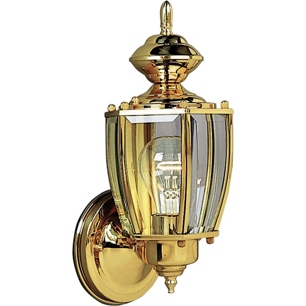 Progress Lighting BrassGUARD Collection Polished Brass 1-light Wall Lantern-DISCONTINUED