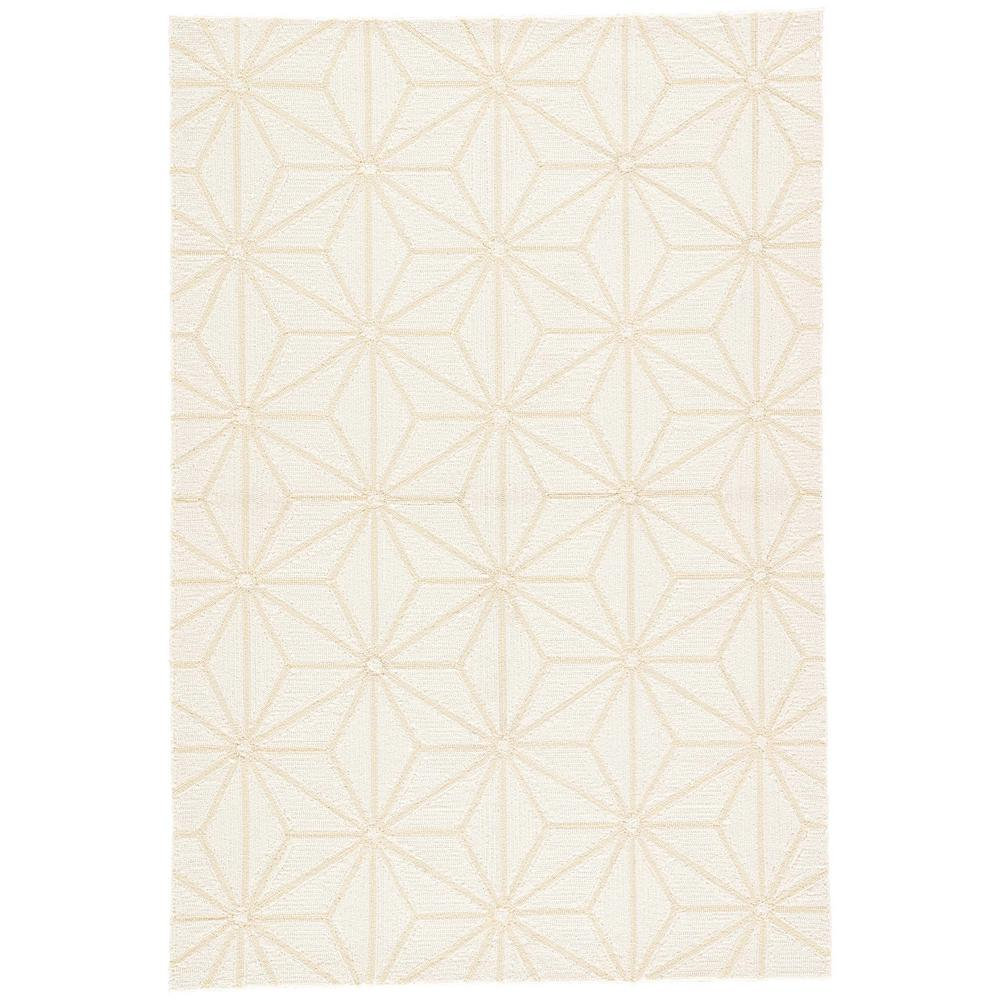 Jaipur rugs egret 5 ft x 8 ft geometric indoor outdoor for Geometric print area rugs
