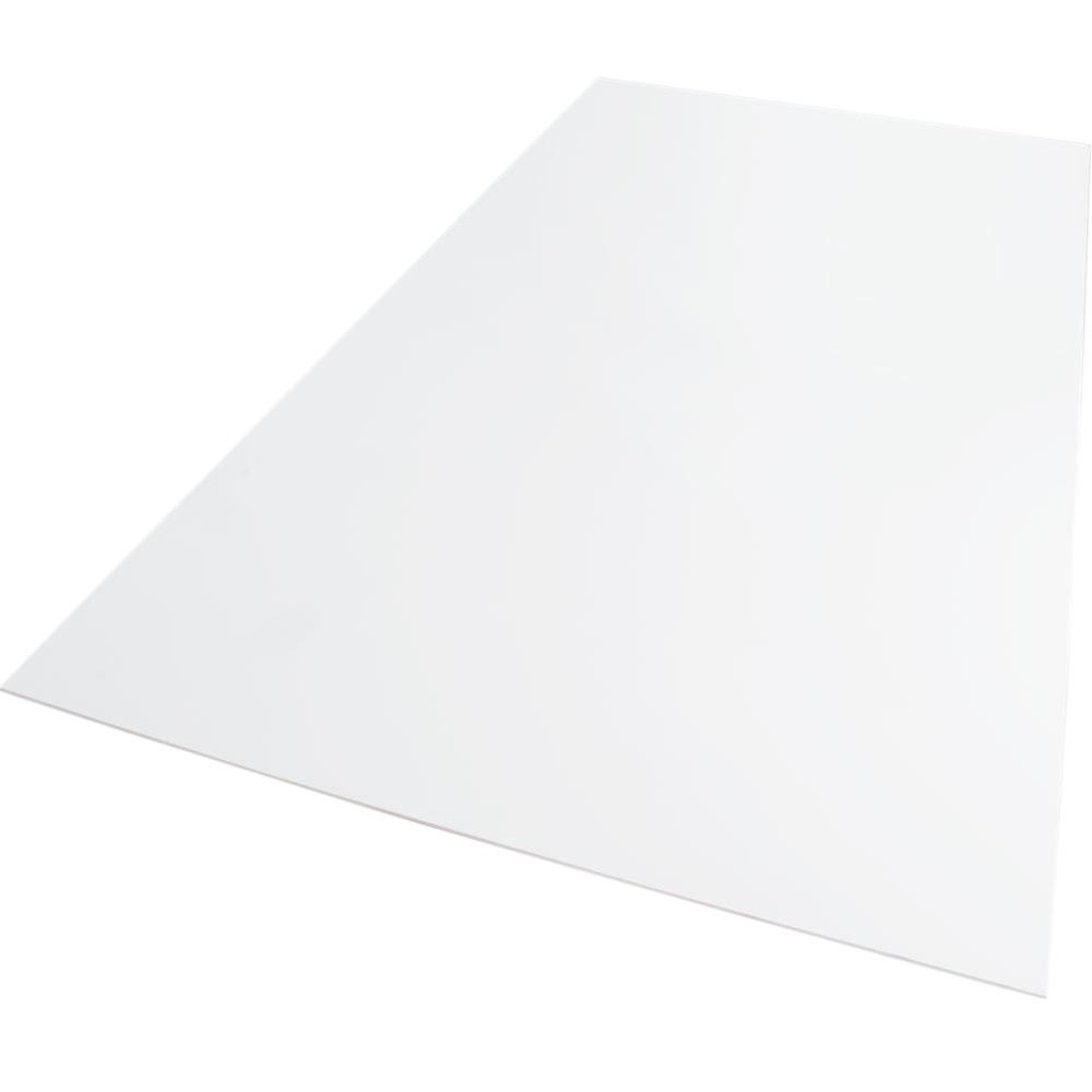 12 in. x 12 in. x 0.079 in. Foam PVC White