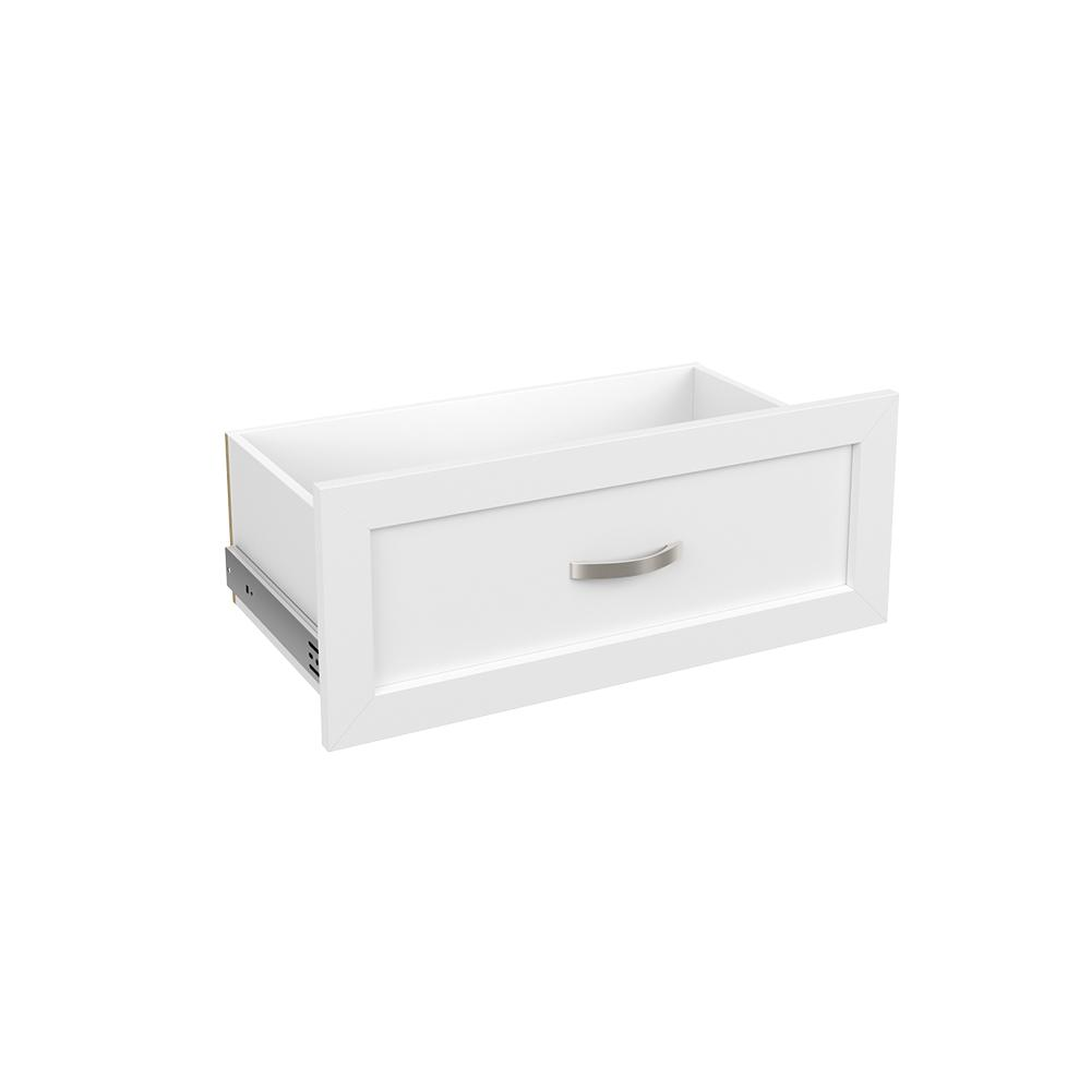 Superieur ClosetMaid Style+ 10 In. H X 25 In. W White Melamine Shaker Drawer Kit