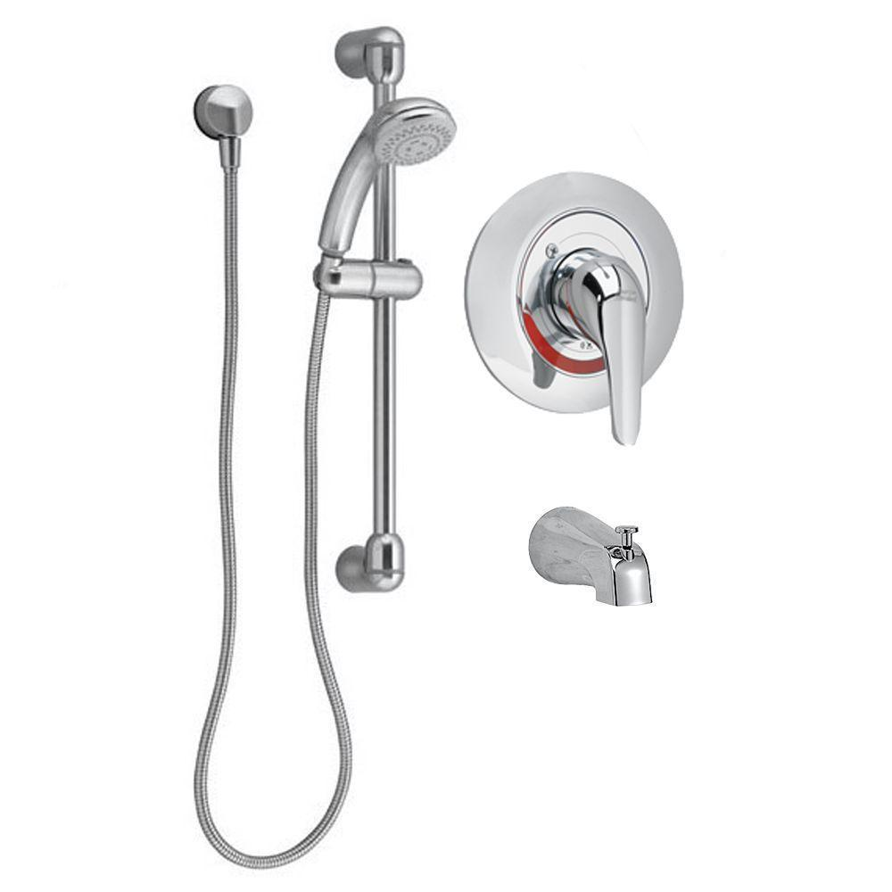 Commercial Water-Saving 36 in. Shower System with Diverter Tub Spout in