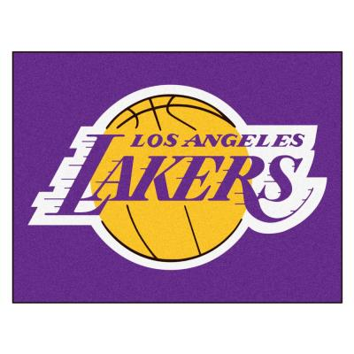NBA - Los Angeles Lakers Purple 2 ft. 9 in. x 3 ft. 6 in. Indoor All Star Mat Area Rug