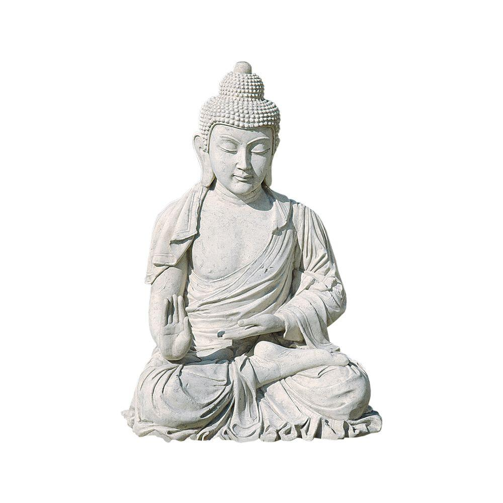 Design Toscano 35 in. W x 32 in. D x 47 in. H Giant Buddha Monument Size Garden Statue-DISCONTINUED