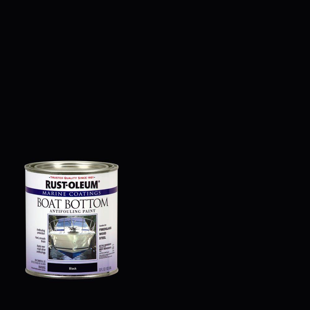 1 qt. Black Flat Boat Bottom Antifouling Paint (Case of 4)