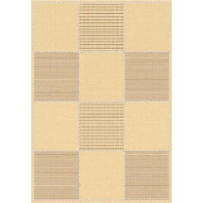 Courtyard Natural/Brown 5 ft. x 8 ft. Indoor/Outdoor Area Rug