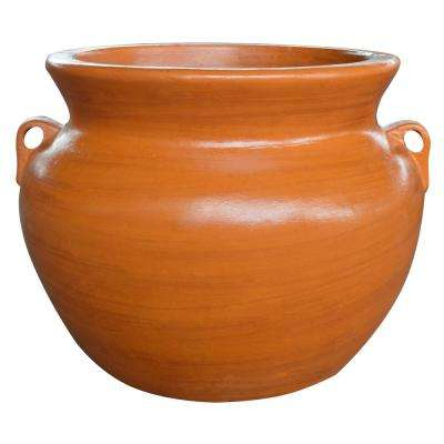 21 in. Yellow Soft Handle Clay Pot