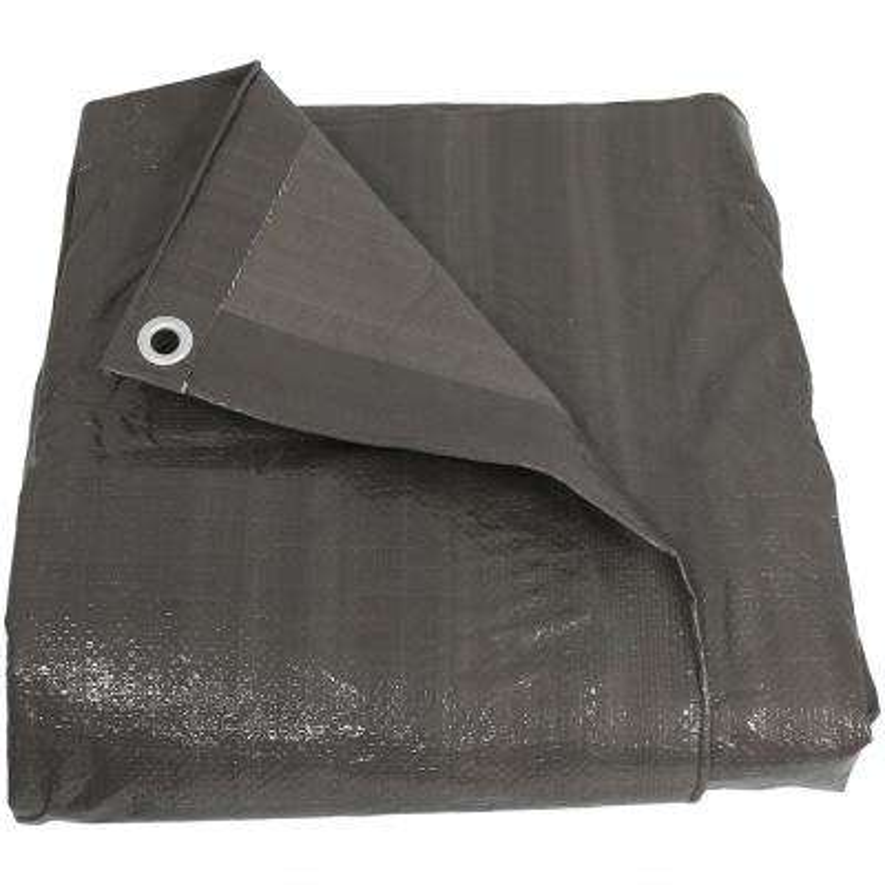 20 ft. x 30 ft. Reversible Dark Grey Waterproof Multi Purpose Poly Tarp