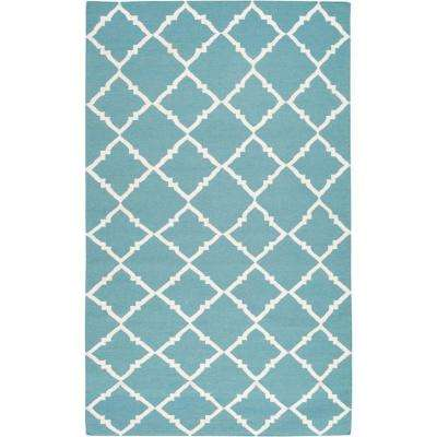 Dorado Teal Green 8 ft. x 11 ft. Flatweave Area Rug
