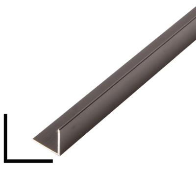 3/4 in. x 3/4 in. x 96 in. Metal Mira Black Outside Corner Moulding
