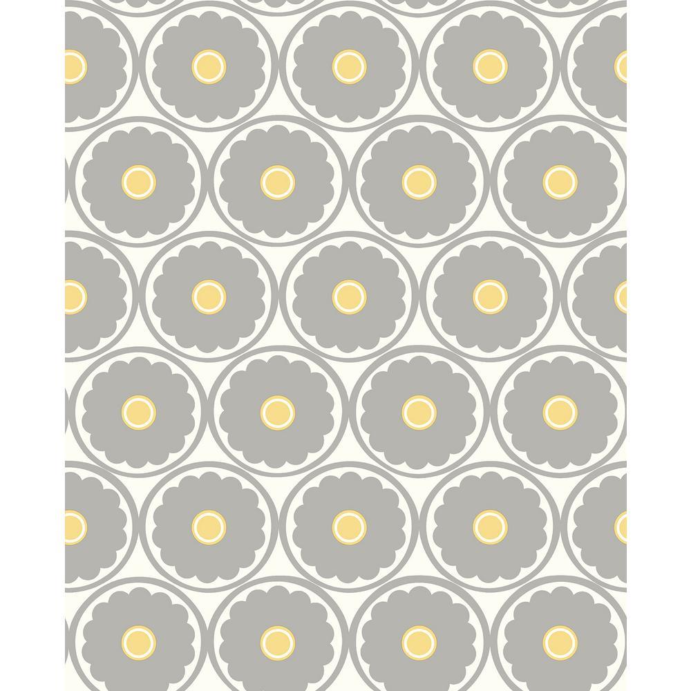 A street 8 in x 10 in buttercup grey flower wallpaper sample 2782 buttercup grey flower wallpaper sample mightylinksfo