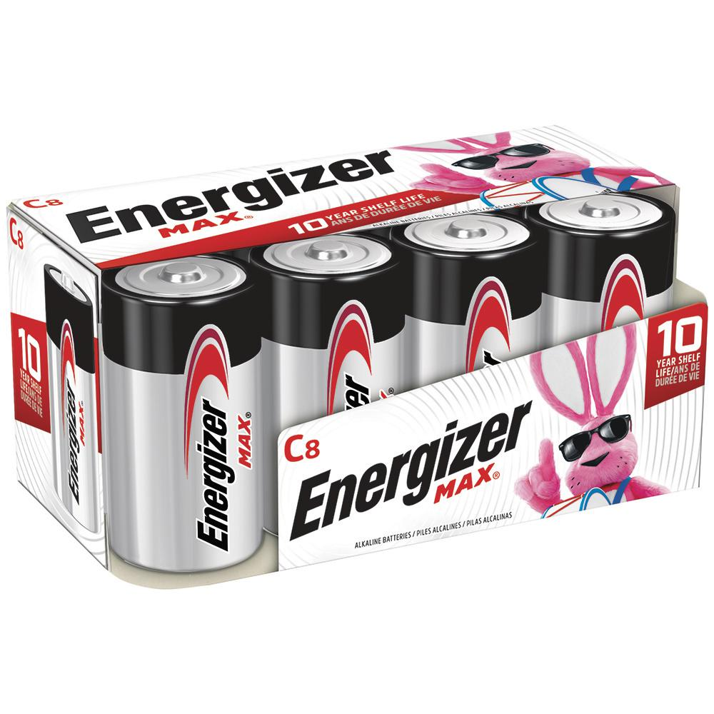 Energizer Alkaline C Battery (8-Pack)