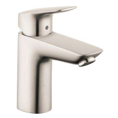 Logis 100 Single Hole Single-Handle Bathroom Faucet with Drain in Brushed Nickel