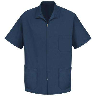 Men's Size 2XL Navy Zip-front Smock