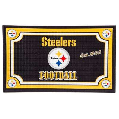 Pittsburgh Steelers 18 in. x 30 in. Embossed Welcome Mat