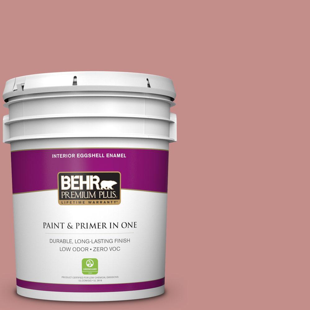 BEHR Premium Plus 5-gal. #BIC-32 Grand Sunset Eggshell Enamel Interior Paint