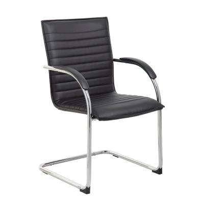 Ribbed Black Guest Chair (Set of 2)