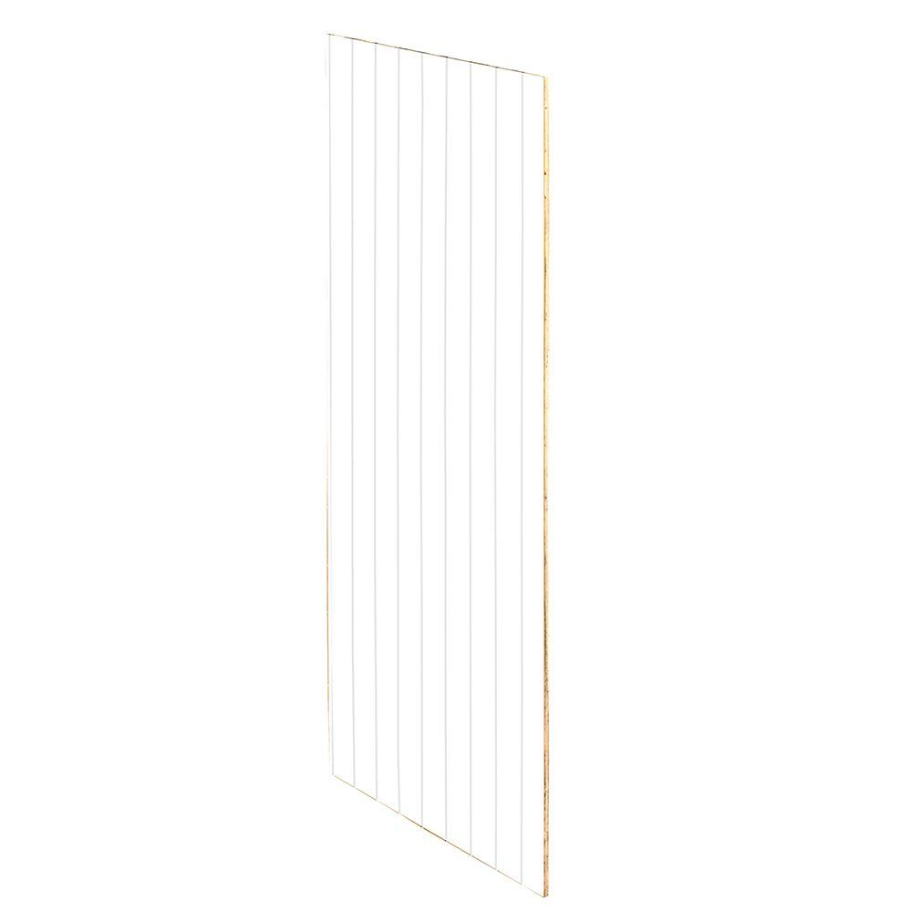 Home Decorators Collection Newport Pacific White Assembled 11.25x42x0.1875 in. Wall Kitchen Skin End Panel with V-Groove