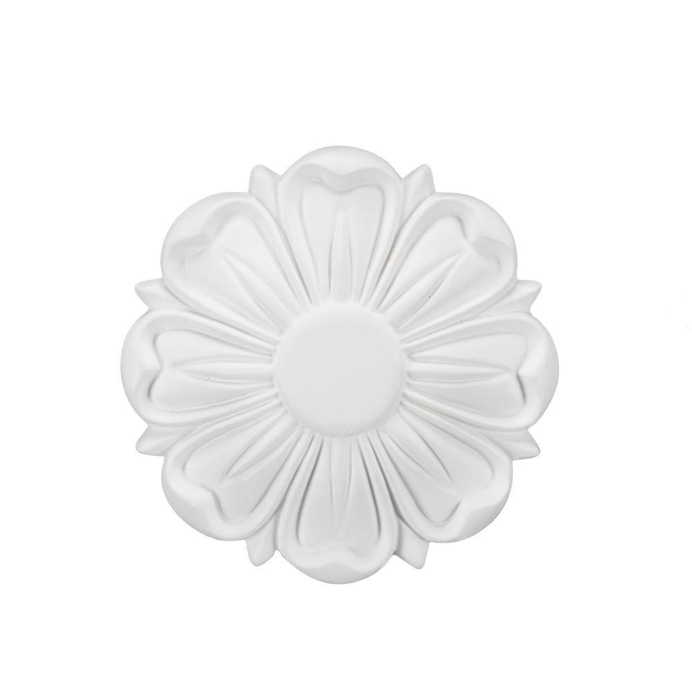 5 in. White Ceiling Medallion