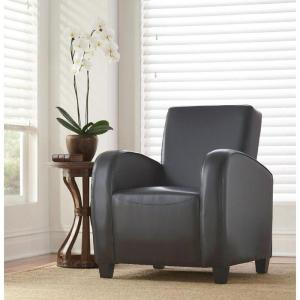 Classic Bonded Leather Club Chair in Gray by