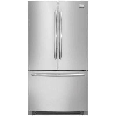 27.6 cu. ft. Non-Dispenser French Door Refrigerator in Stainless Steel