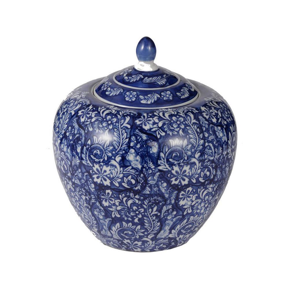 Blue Grand Deluxe Ceramic Decorative Jar
