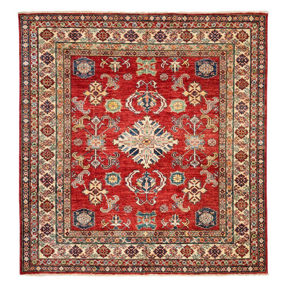 Darya Rugs Kazak Red 6 ft. 3 in. x 6 ft. 3 in. Square Indoor Area Rug