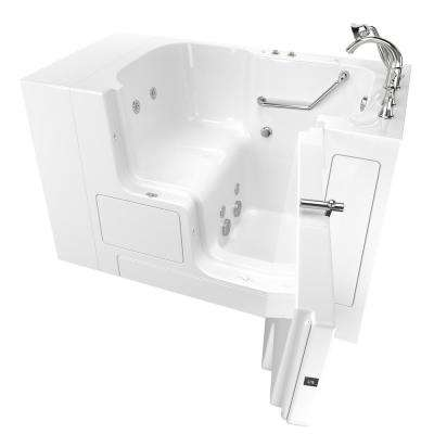 Gelcoat Value Series 52in. x 30in. Right Hand Touch Control Walk-In Whirlpool Bathtub with Outward Opening Door in White