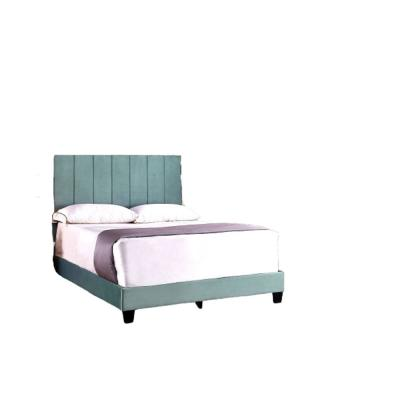 Mallory Dark Moderate Cyan Twin Upholstered Platform Bed