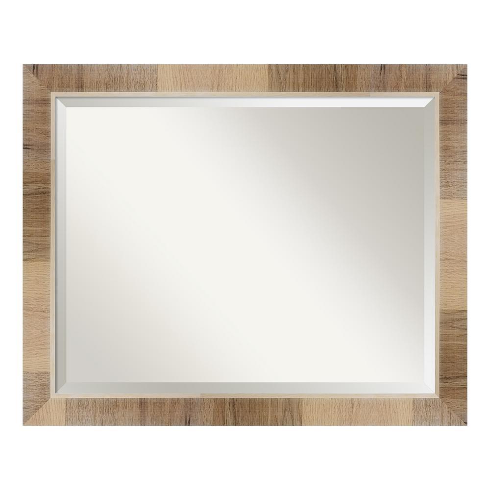 Amanti Art Natural White Wash Decorative Wall Mirror DSW4092970