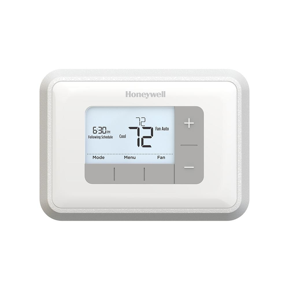 Honeywell Programmable Thermostats The Home Depot Manual Thermostat Instructions Guide Example 2018 5 2