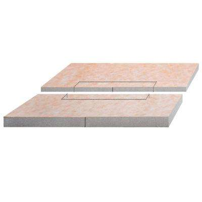 Kerdi-Shower-L 55 in. x 55 in. Polystyrene Center Drain Sloped Shower Tray