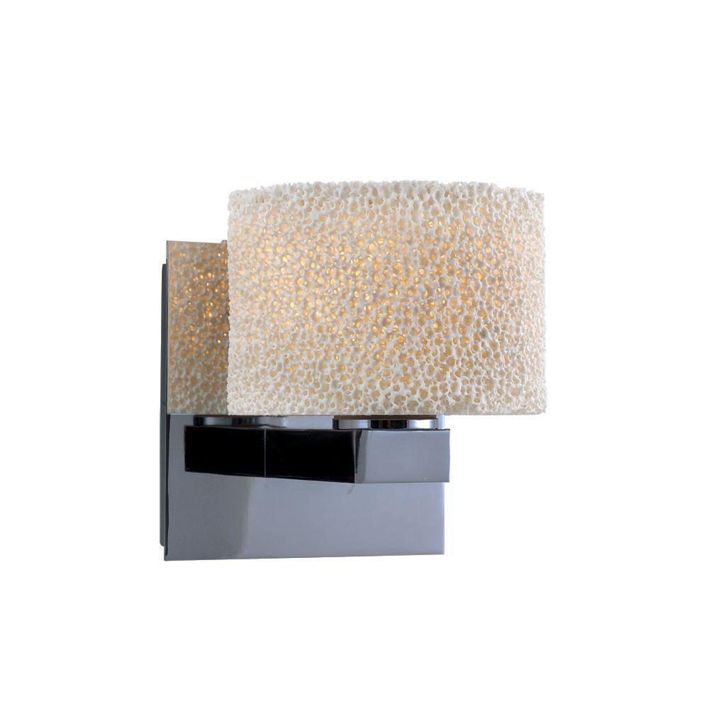 """JESCO Lighting Low Voltage 5.125 in. x 5.75 in. Ceramic """"Coral"""" Finish Companion Wall Sconce"""