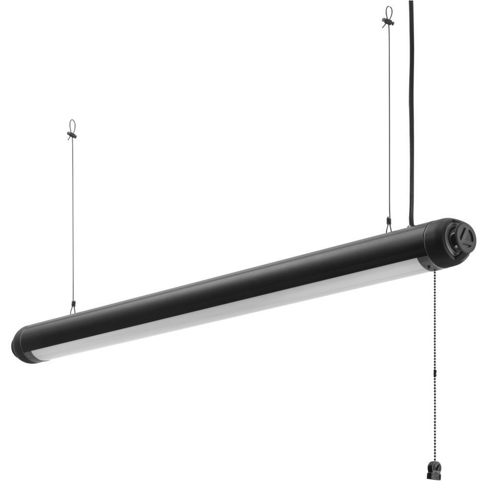 Lithonia Lighting Black Integrated LED Bluetooth Speaker Shop Light