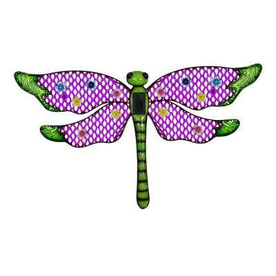 Solar Dragonfly 9 in. Wall Art