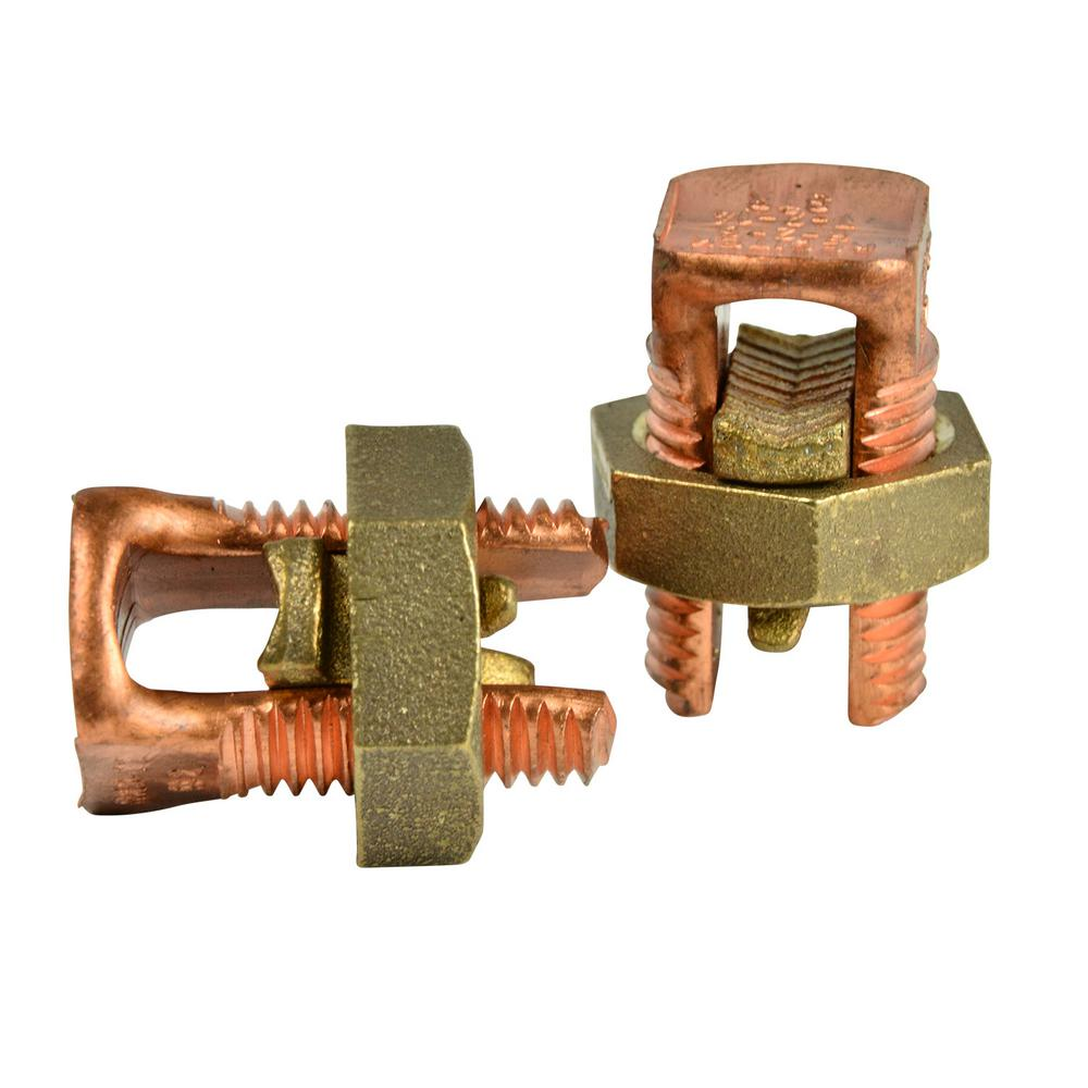 2 AWG Copper Split Bolt Connector (2-Pack) Case of 10