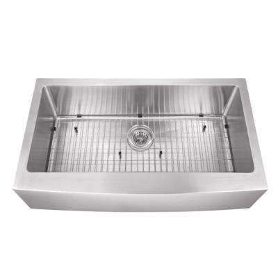 farmhouse apron front stainless steel 32 78 in single bowl kitchen sink - Home Depot Kitchen Sinks