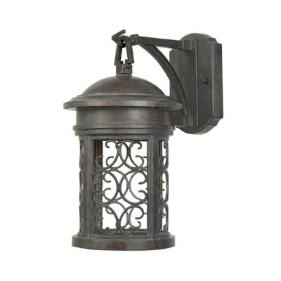 Ellington Mediterranean Patina Outdoor Wall-Mount Lantern Sconce