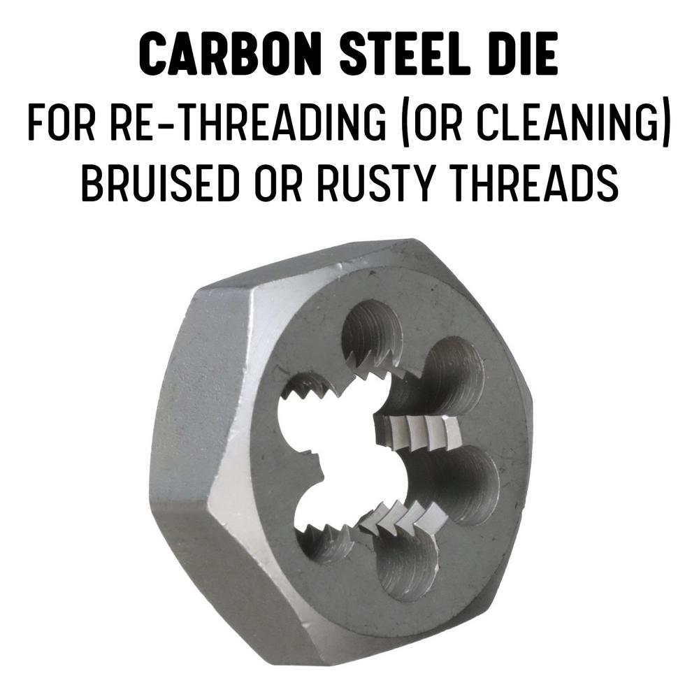 "1 3//4/""-18 CARBON STEEL HEXAGONAL RE-THREADING DIE"