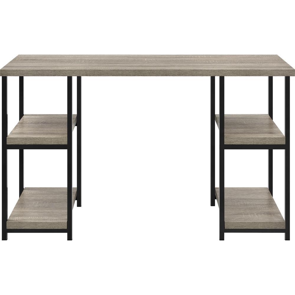 47.5 in. Rectangular Weathered Oak Standing Desks with Storage