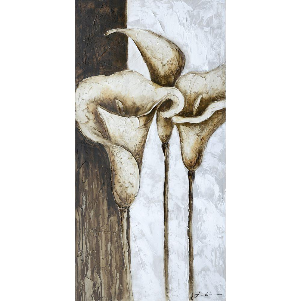 "Yosemite Home Decor 55 in. x 28 in. ""Calla Trio I"" Hand Painted Canvas Wall Art"