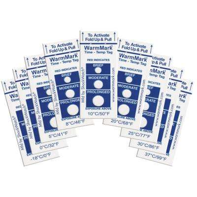 WarmMark 8°C/46°F (8-hour) Temperature Indicator (10-Pack)