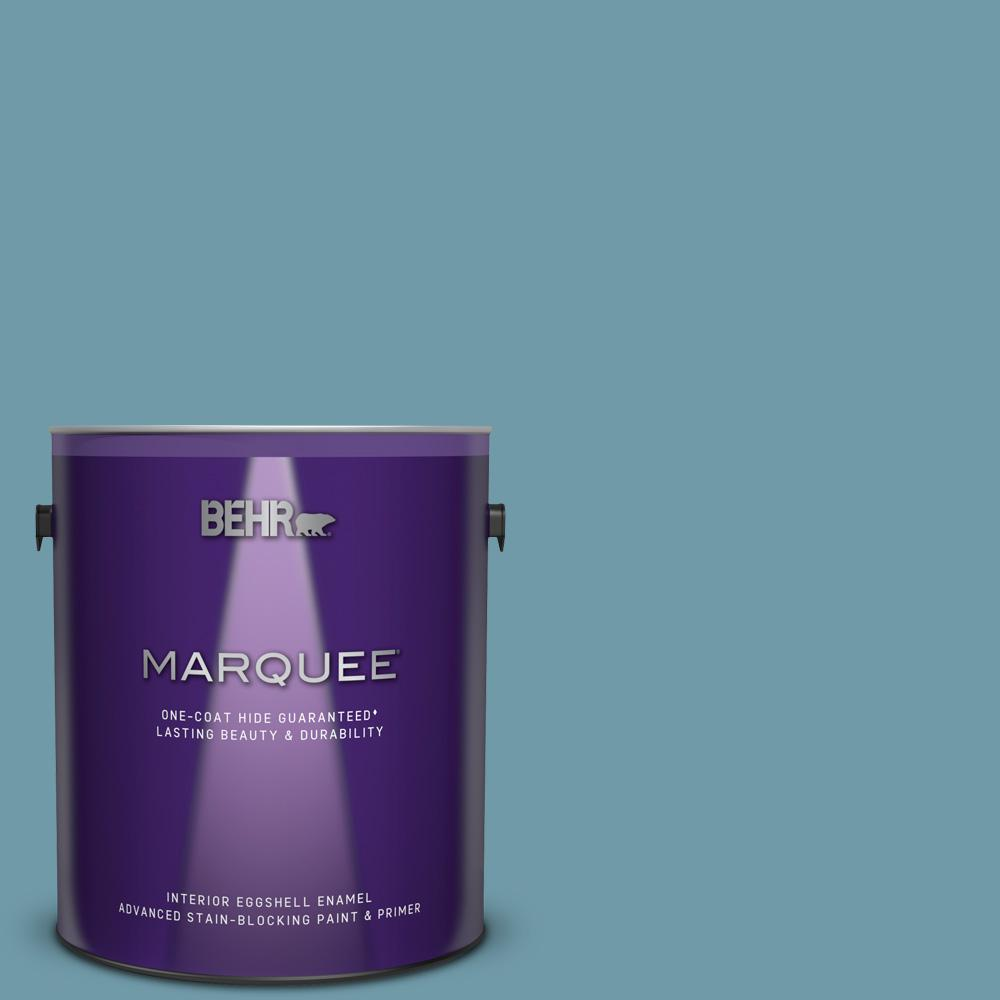 Behr Marquee 1 Gal Ppu13 07 Voyage One Coat Hide Eggshell Enamel Interior Paint And Primer In One 245401 The Home Depot